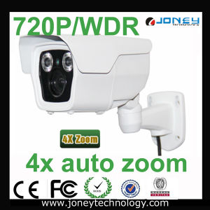 HD 4X Auto Zoom IP Bullet Camera with 720p Resolution pictures & photos