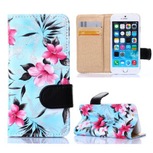 2015 New Design Flower Leather Case Cover for Apple iPhone 6 Plus pictures & photos