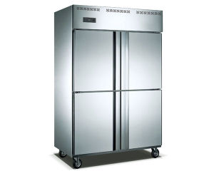 880L Air Cooling Stainless Steel Upright Freezer for Food Storage pictures & photos