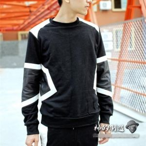 Geometry Patch Sweater Winter Clothing Long Sleees pictures & photos