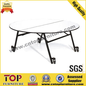 Durable Half Moon Round Plywood Table pictures & photos