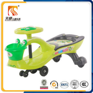 New Model Plastic Baby Swing Car Baby Toy Car pictures & photos