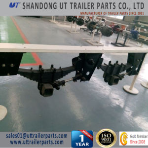Germany Type Mechanical Suspension Two Axle / Tandem Overlung / Underslung with Leaf Spring pictures & photos