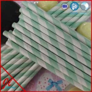 Paper Green Drinking Straws Paper Straws with PVC Box pictures & photos
