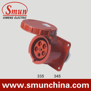 5pin 63A 3p+N+E Industrial Plug and Socket, 125A Panel IP67 Panel Socket pictures & photos