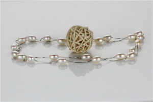 Snh 36inches Long White Freshwater Women Pearl Necklace pictures & photos