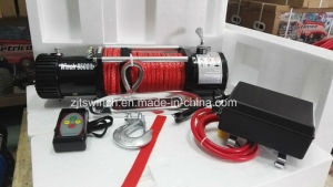 12V Synthetic Rope Electric Winch 12000lbs with New Remote Control