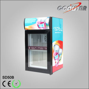 Desk Top Glass Door Small Display Freezer (SD-50B) pictures & photos