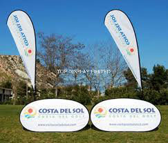 Custom Fabric Printed Promotional Attractive Spring Stainless Steel Outdoor Exhibition a-Frame Golf Sports Advertising Pop up out Flag Banner Display Sign Stand pictures & photos