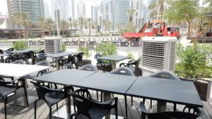 with Low Power 0.38kw/H Super Energy-Saving Outdoor Air Cooler pictures & photos