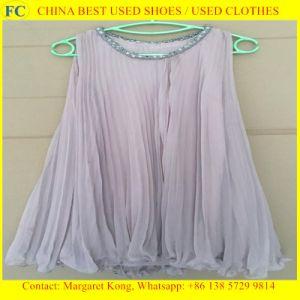 Origin Summer Clothing Second Hand/Ladies Silk Blouses pictures & photos