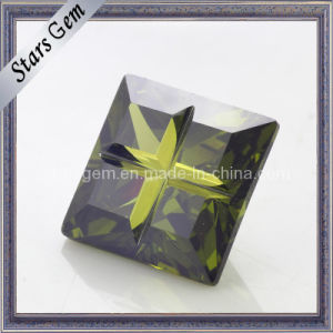 Noble Quality Dark Olive Special Cut Cubic Zirconia pictures & photos
