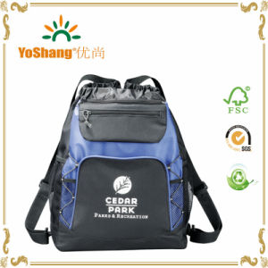 Hot Promotion Wholesale Tote Travel Drawstring Backpack Bag with Zipper pictures & photos