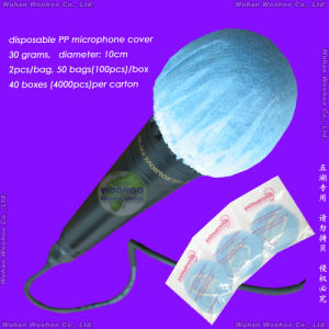 Disposable Sanitary Dust-Proof/SMS/Dustproof/Polypropylene Nonwoven Anti-Dust PP Microphone Cover pictures & photos