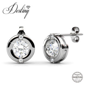 Destiny Jewellery Crystal From Swarovski 925 Sliver Stud Classic Earrings