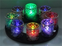 Mosaic Glass Candle Holder 18170