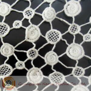 Cotton Water Soluble Lace Fabric with Wave Point Pattern (M0512) pictures & photos