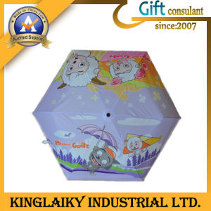 Fashion Cartoon Folding Umbrella with Design Logo for Promotion (KU-011) pictures & photos