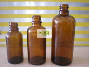 Boston Round Amber Glass Bottles