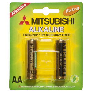 Lr6 Alkaline Battery Mitsubishi Brand 1.5V
