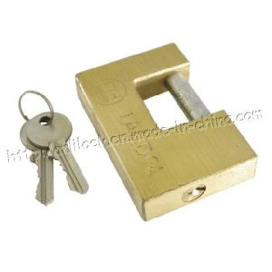 Rectangle Plated Brass Padlock (AL605) pictures & photos