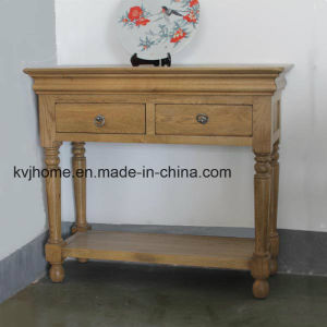 Oak Solid Oak Furniture Console Table Sideboard Furniture (OF-412) pictures & photos