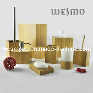 High-End Carbonized Bamboo Bath Set (WBB0607A) pictures & photos