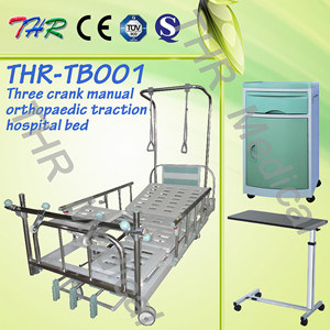 Hospital 3-Crank Manual Orthopaedic Traction Bed (THR-TB001) pictures & photos