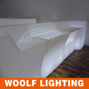 Shanghai Fair LED Lighting Furniture Outdoor Furniture Hotel KTV Bar Counter Table Chairs pictures & photos