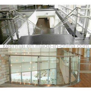 Stainless Steel Post Decorative Glass Stair Railing pictures & photos