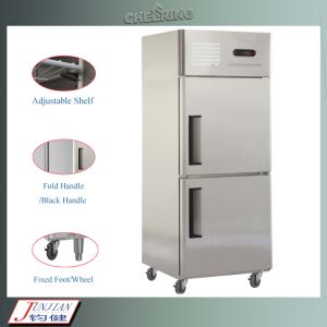 Ce Approved 2-Door Commmercial Stainless Steel Refrigerator /Freezer pictures & photos