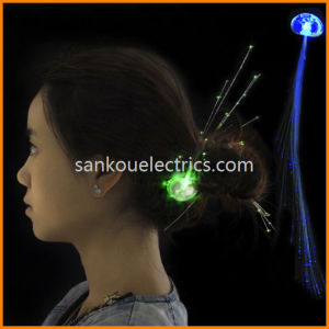Flashing LED Braid, Optical Fibre Flash Braid, Glowing Braid, Light up Hair