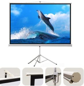 60 Inch-150 Inch Tripod Projector Screen Portable Projection Screen