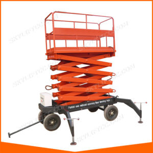 Hydraulic Outdoor Scissor Lift for High Work with safety Grade pictures & photos
