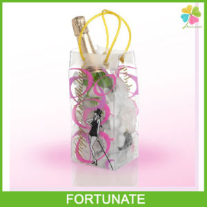 Transparent PVC Ice Bag Wine Bag Cooler Bag with Handles pictures & photos