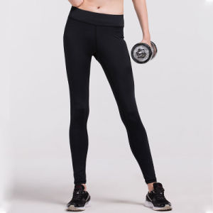 Sexy Yoga Pants Plain Pants Women Gym Wear Leggings pictures & photos
