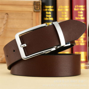 Men′s Belts High Quality Top Grain Leather Vintage Pin Buckles pictures & photos