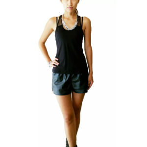 Women Garments Cotton Black Tank Top Fashion Clothing pictures & photos