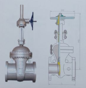 GB Cast Steel Gate Valve for Water Industry and Household Usage