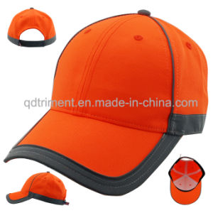 Reflective Banding 100% Polyester Neon Color Baseball Cap (TMB0686) pictures & photos