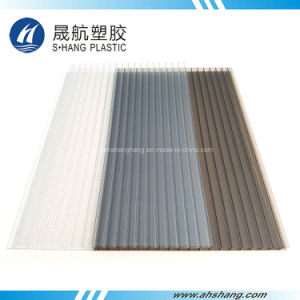 4 Colors Frosted Polycarbonate Hollow Sheet with UV Protection pictures & photos