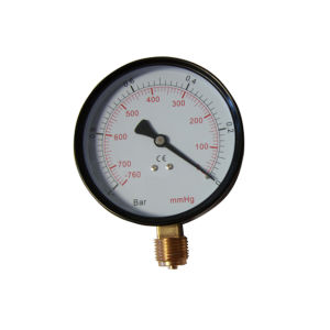2.5inch-63mm Black Steel Case Brass Internal Bottom Vacuum Gauge Pressure pictures & photos