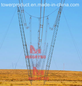 500kv Guyed Transmission Tower with Composite Insulator pictures & photos
