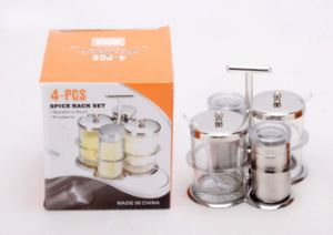 Stainless Steel 4-PCS Spice Rack Set (CS-045)) pictures & photos