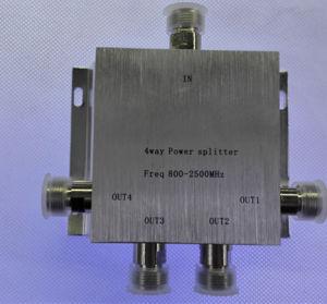 800-2500MHz Power Splitter Four The Dispenser/4-Way Splitter/Four Power/ Splittersignal Splitter