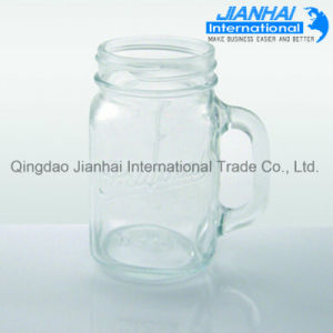 Clear Glass Mason Jar with Handle pictures & photos
