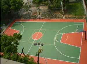 Outdoor PVC Sports Flooring / Badminton Sports Floor pictures & photos