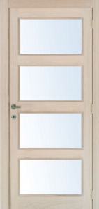 Interio MDF Solid Wood Stiles and Rails Veneered Door Modern Design pictures & photos