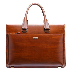 2015 Men′s Nice Genuine Leather Briefcase