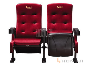 Hot Sell Fixed Flat Iron Movie Chair, with Cup Holder Cinema Chair pictures & photos
